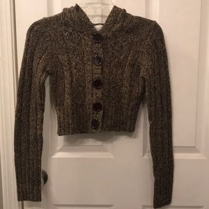 Sweaters - Hooded Cropped Sweater